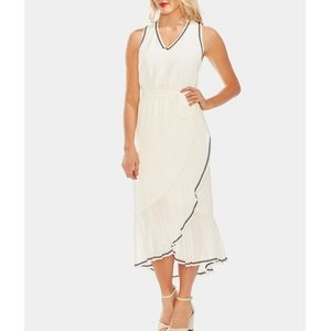 Vince Camuto Dresses - VINCE CAMUTO Embroidered Ruffle-Hem Dress